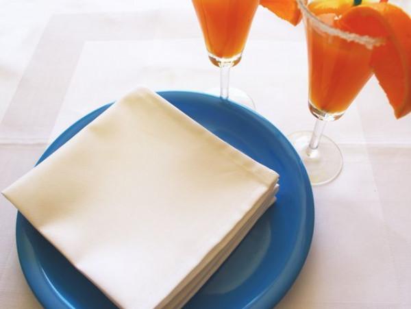 50 Cocktailservietten weiß, ohne Muster 30x30