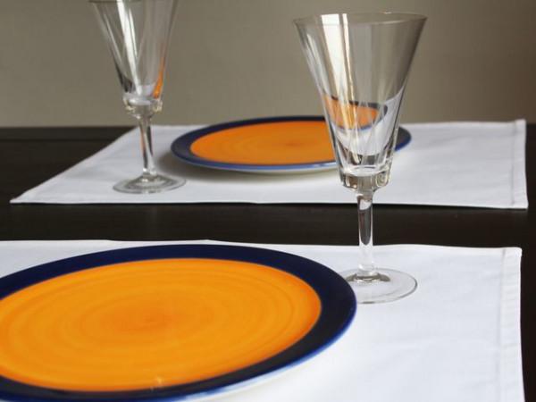4 Tischsets Klara, weiß, ohne Muster, 35x50