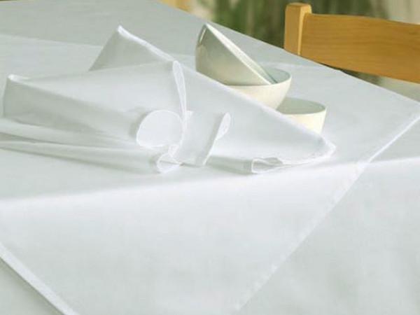 Mitteldecke Klara, weiß, ohne Muster, 100x100