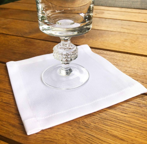 30 Cocktailservietten Untersetzer-Deckchen weiß 12x12cm