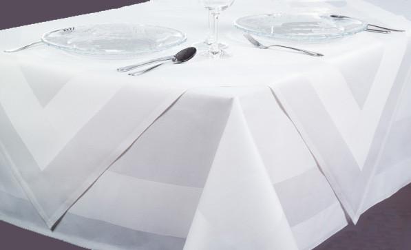 Mitteldecke Padua, weiß, mit Atlaskante, 90x90